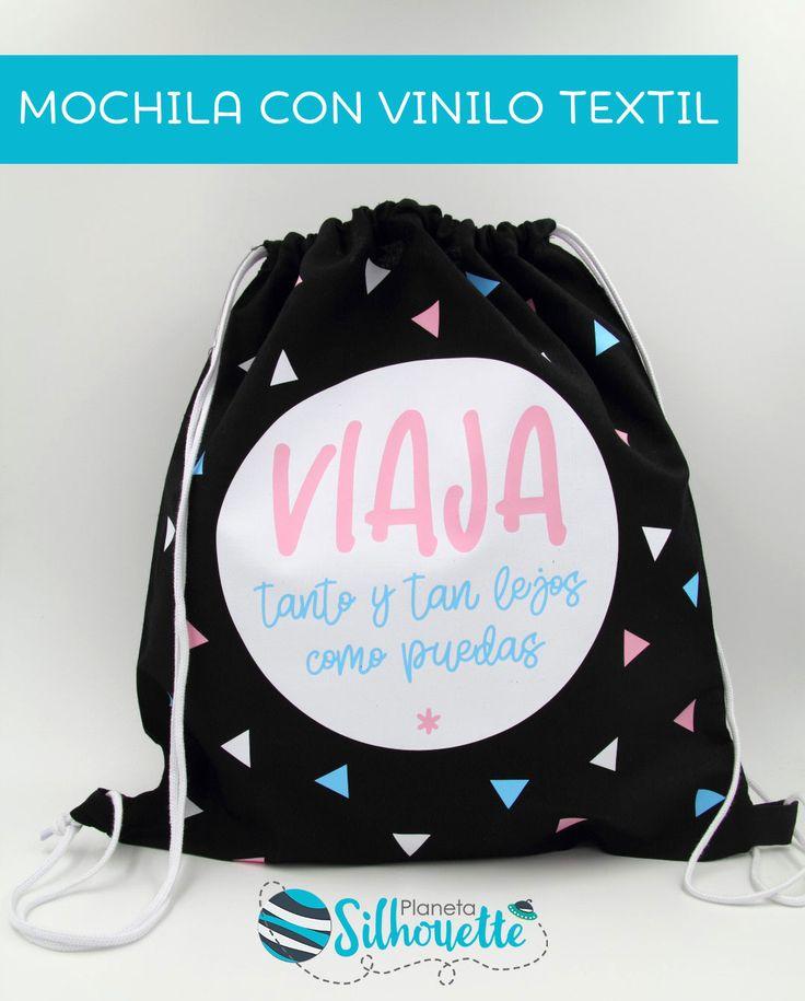 Mochila con vinilo textil + archivo gratis