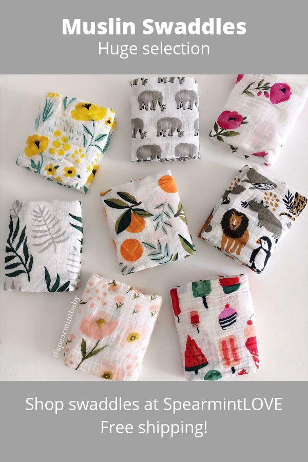 New Muslin Swaddle blankets!