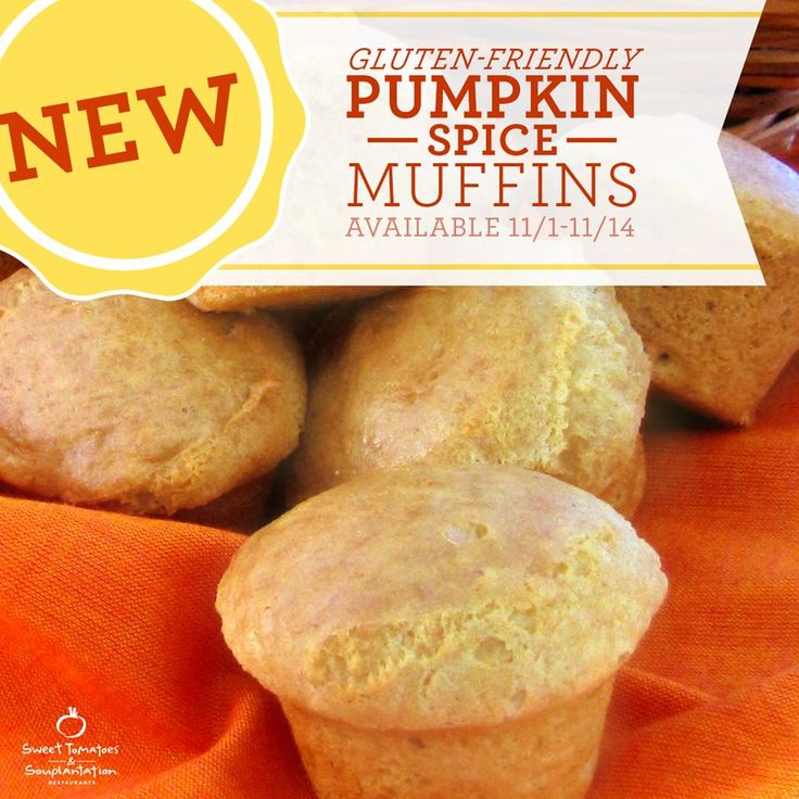 https://twitter.com/SweetTomatoesCo Pumpkin Spice has arrived at Souplantation/Sweet Tomatoes! Be sure to try one of our NEW Gluten-Friendly Pumpkin Spice Muffins. new coupons