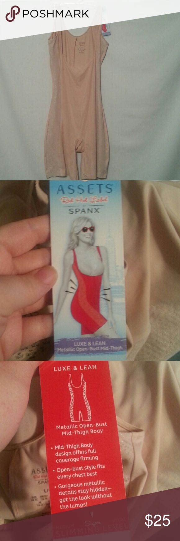 Spanx body shaper Nude assets by spanx. Luxe and lean. Medium slimming  level . Size large Assets By Spanx Intimates & Sleepwear Shapewear