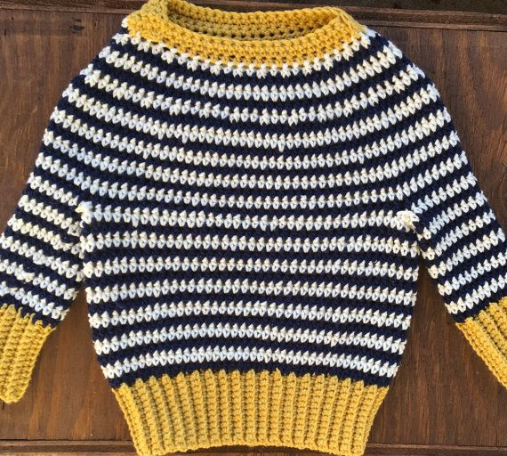 Crochet Baby Sweater Infant Sweater Navy by forgetmenotstudio