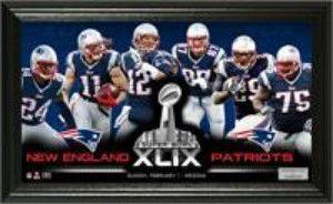 "New England Patriots Super Bowl 49 ""Team Force"" Panoramic Photo"