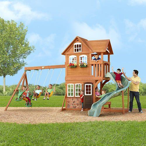 swing sets wooden swing sets costco highlanders gym big backyard