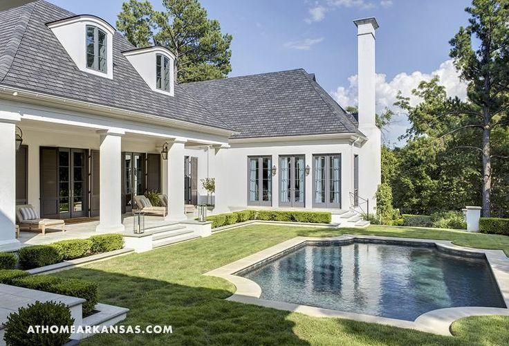 Melissa Haynes Design, MH Design, Inc. Melissa's home featured in At Home in Arkansas. The back courtyard of the Haynes' home is stunning and secluded.