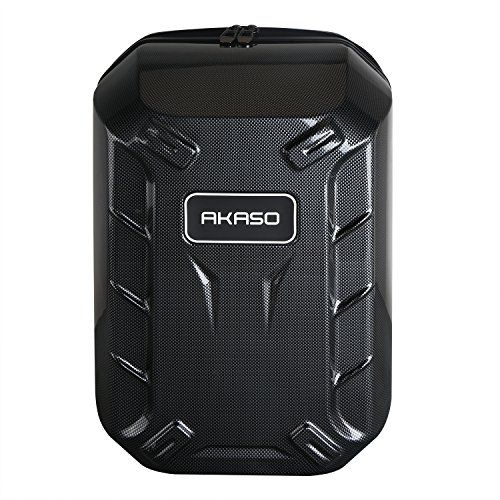 AKASO Hard shell Protective Backpack Carrying Case for DJI Phantom 3 Standard, Phantom 3 Advanced, Phantom 3 Professional 4K Drone and Accessories - Titanium - http://dronescenter.net/akaso-hard-shell-protective-backpack-carrying-case-dji-phantom-3-standard-phantom-3-advanced-phantom-3-professional-4k-drone-accessories-titanium/