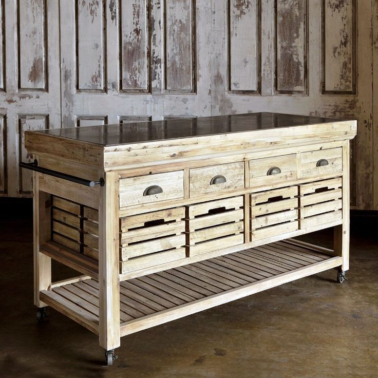 Kitchen Drawers Plus Bottom Shelf Cart Ikea For Rustic Stained Wood Movable Kitchen Islands