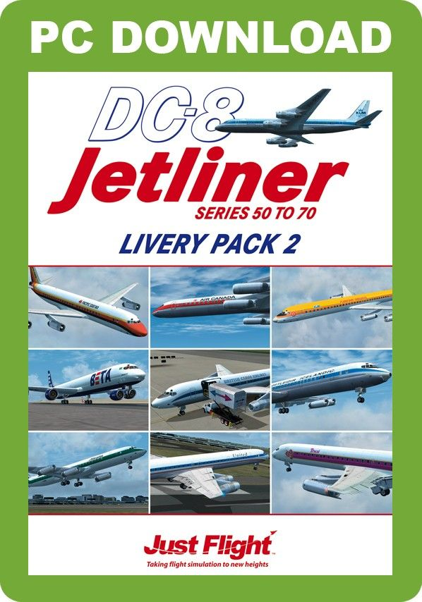 JUSTFLIGHT : DC-8 50-70 Livery Pack 2 Looking for some