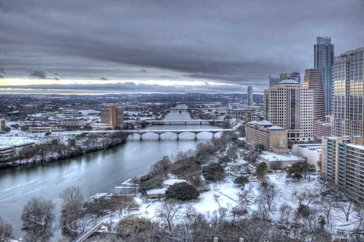 Austin, Texas in the snow