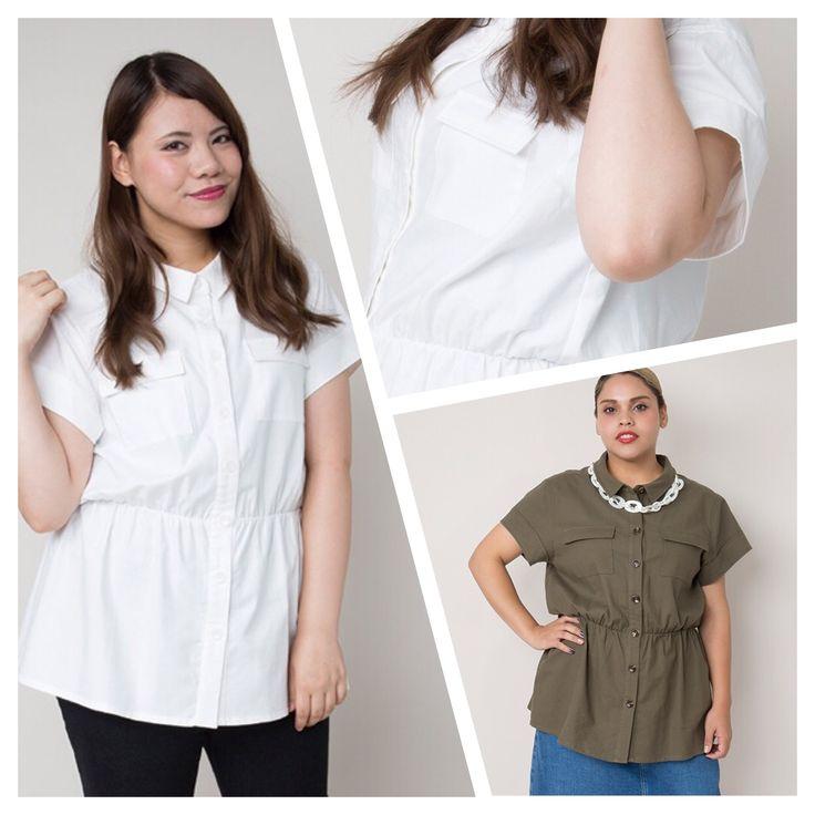 胸ポケットと、ウエストに入ったゴムシャーリングが特徴のシャツです。 小さめの衿でスッキリさせながらボタンと胸ポケットは大きめにして、可愛さのバランスを取りました。 しっかりとした綿ベースの素材ですが、ストレッチも効くので着心地は抜群です。 ウエストの高い位置に入ったシャーリングはスタイルアップ効果もありますし、気になるヒップまわりを隠すこともできる長めの丈に設定しました。 ボトムにインしても着られるのでパンツスタイルからスカートまで幅広く着こなせます。 http://jolie-clothes.com