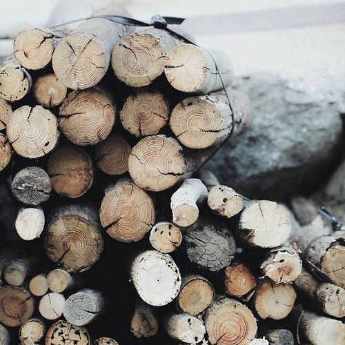 Pile of fire wood. If you love rustic style, you should now that is a trend. Use it in your bedroom, bathroom, living room or dining area. See more home design ideas at www.homedesignideas.eu #contemporary #interiors