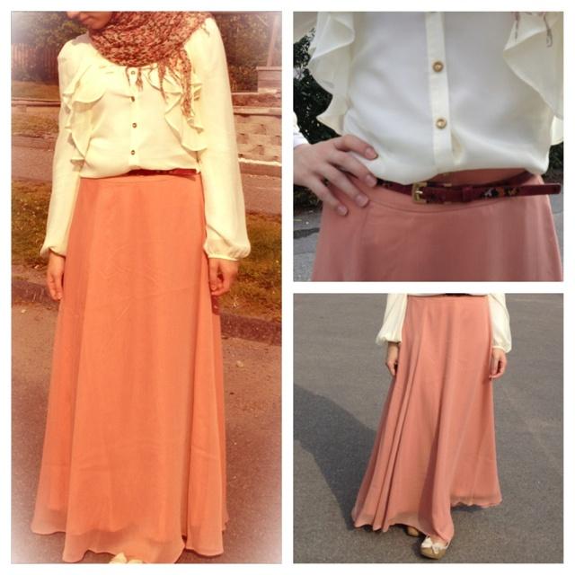 Hijab style fashion skirt hijabista fashionists maxi | Mix Nu0026#39; Match / Outfit | Pinterest ...