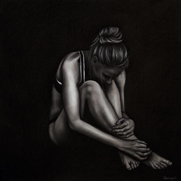 Desolate by Courtney Kenny Porto #art #feminism #human #figure #drawing #charcoal #woman #realism