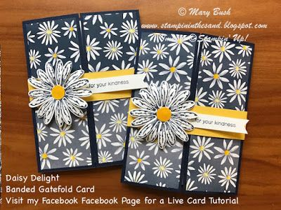 Stampin' in the Sand: Card Tutorial: Daisy Delight Banded Gatefold . Daisy Delight stamp set . Stampin up