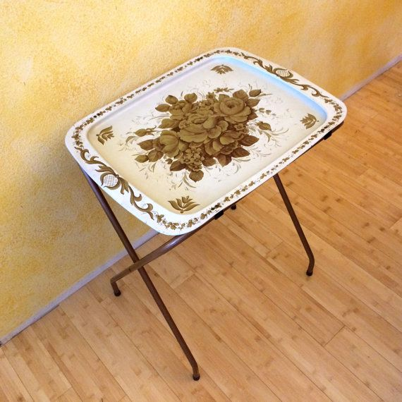 Vintage Cal Dak TV Tray Tables With Legs