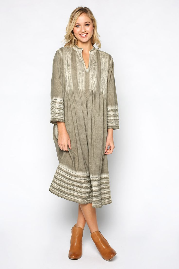 Milana Dress in Khaki – Adrift Clothing
