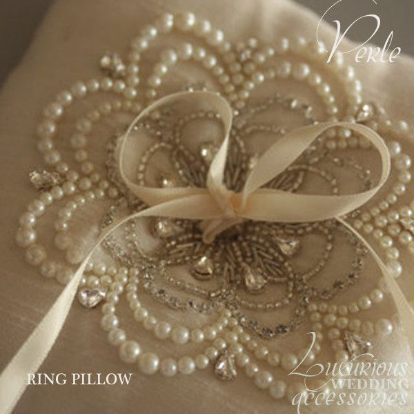 Luxurious Wedding Ring Pillow