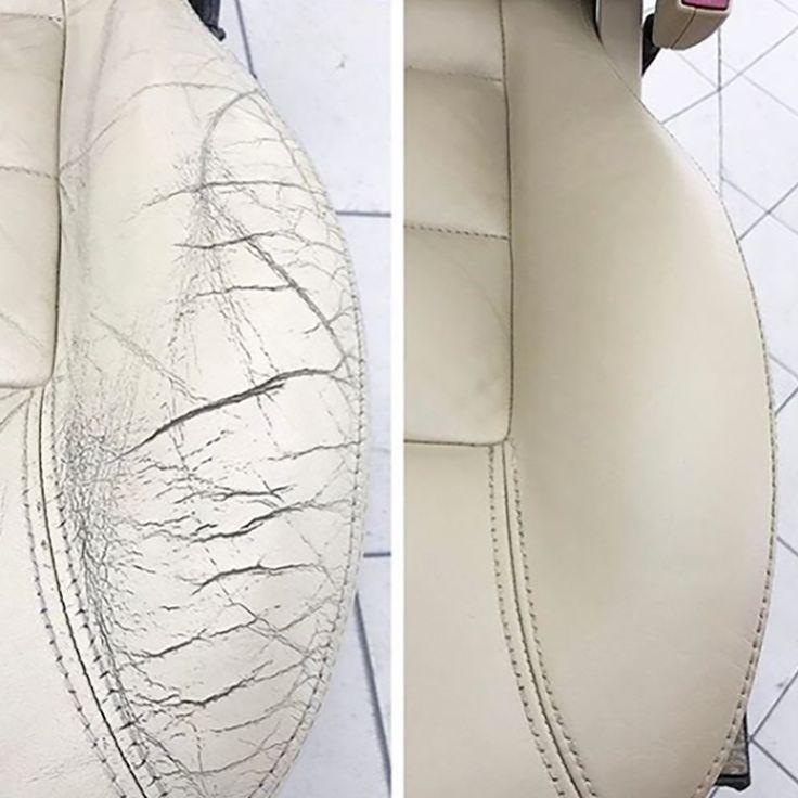 Wie Repariert Man Harte Risse Im Leder Starkes Knacken In Ihrem Ledersofa Oder Renovation Cuir Coussins En Cuir Nettoyage Voiture
