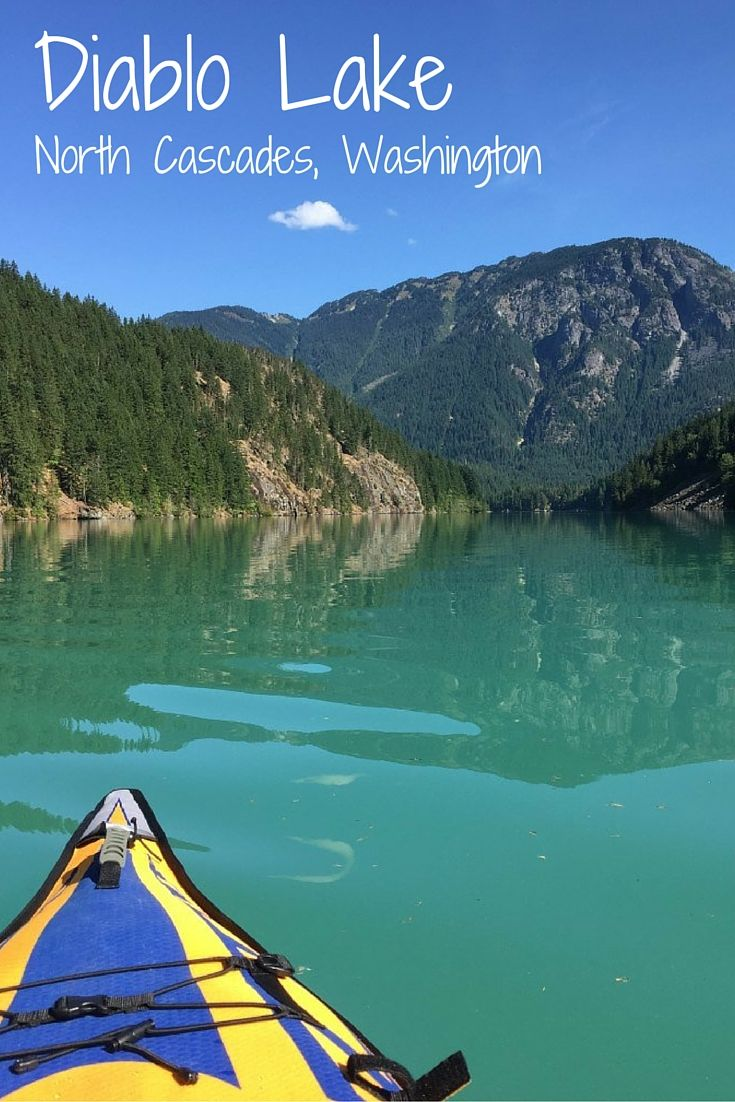 Diablo Lake in North Cascades National Park. You will not believe the turquoise color of this lake - it's unbelievable! Camping, hiking, kayaking and more are available here. Click through to read about our trip and get some tips, or save to read later. Camp / Kayak / Hike / Seattle / Washington / Bucket List