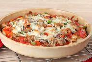 Deep Pan Mushroom and Goat Cheese Pizza