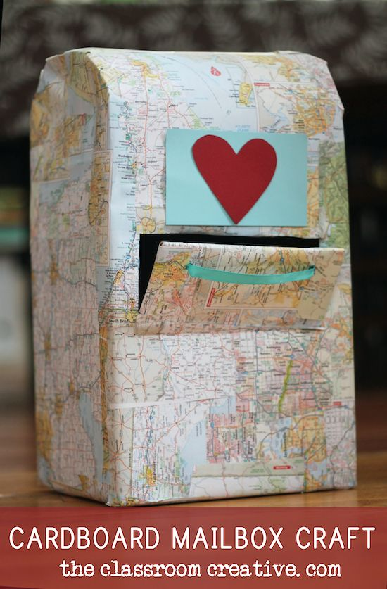 great tutorial on how to make a cardboard mailbox from theclassroomcreative.com...perfect for our classrooms and homeschools in February!