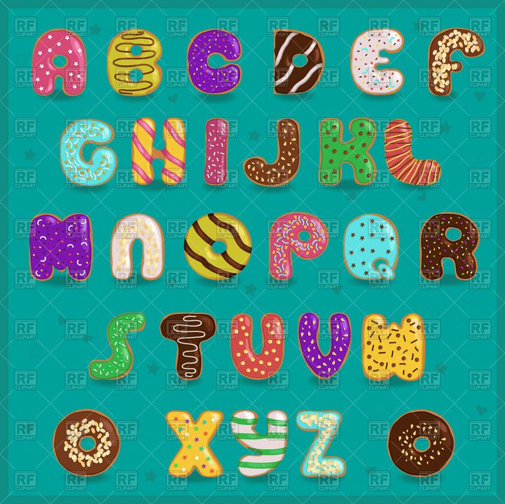 Royalty Free Vector Image Of Alphabet #donuts