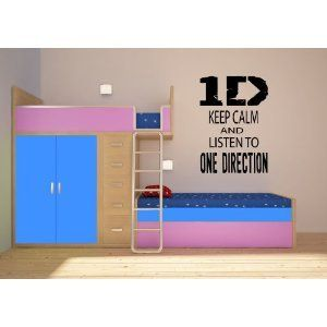 KEEP CALM AND LISTEN TO ONE DIRECTION ~ ONE DIRECTION: WALL DECAL, LARGE  20.5