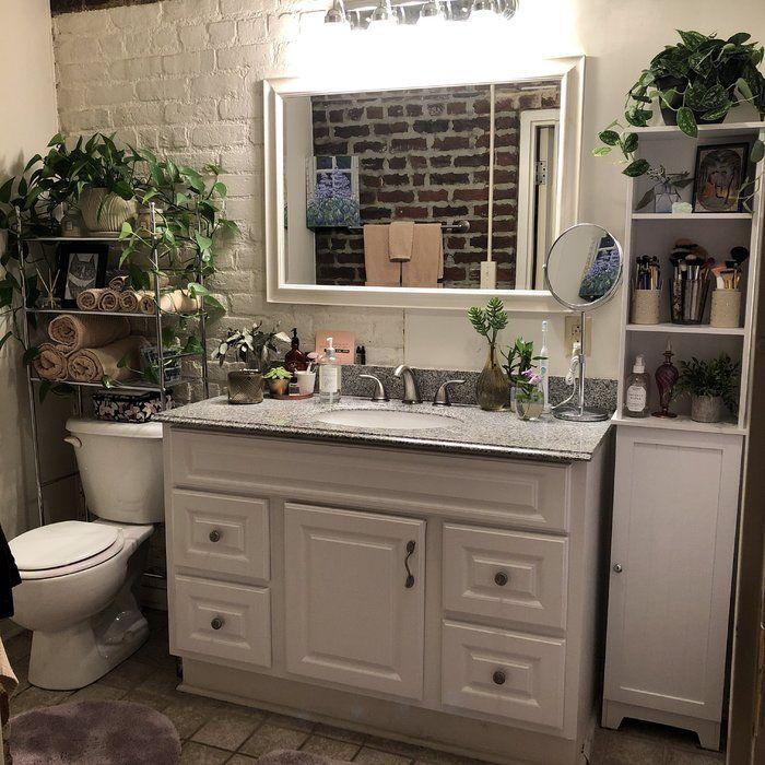 Wayfair Basics Wayfair Basics 22 83 W X 59 84 H Over The Toilet Storage Reviews Wayfair Restroom Decor Bathroom Decor Small Bathroom