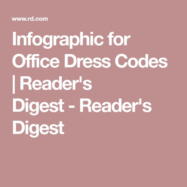 Infographic for Office Dress Codes | Reader's Digest-Reader's Digest