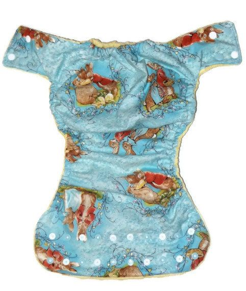 Large pocket Peter Rabbit cloth diaper cloth nappy by PeepOoie, $18.00