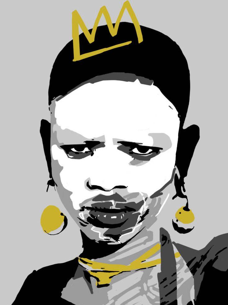 la mia africa - illustrazione grafica