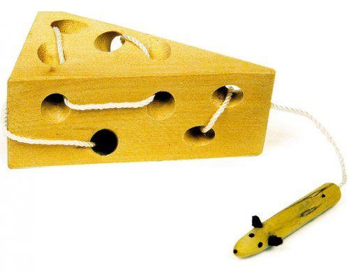 Το ποντικάκι και το τυρί/ Cheese and mouse threading game