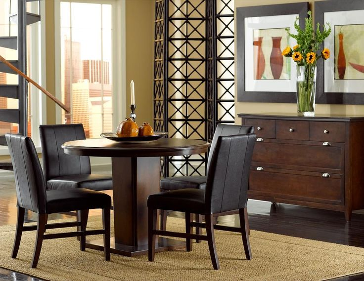 Add The Colfax Round Dining Room Set To Your Lease Today And Give Home A Great Place Gather