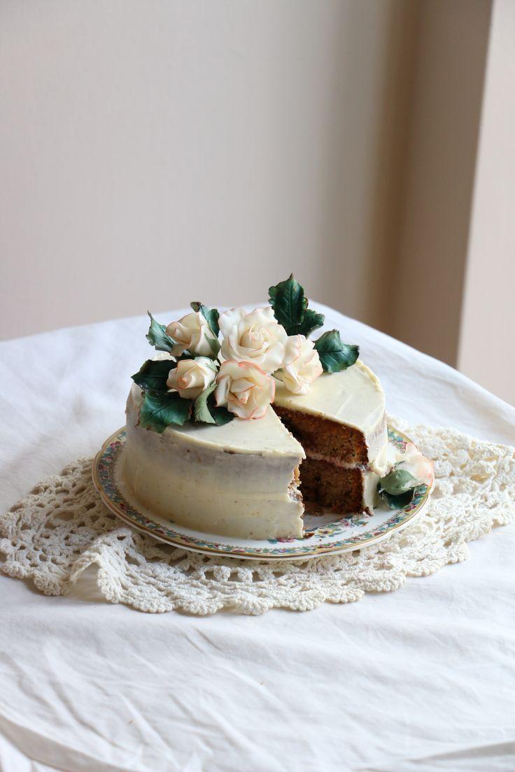 Black Tea Cake with Bramble Jam and Lemon Buttercream