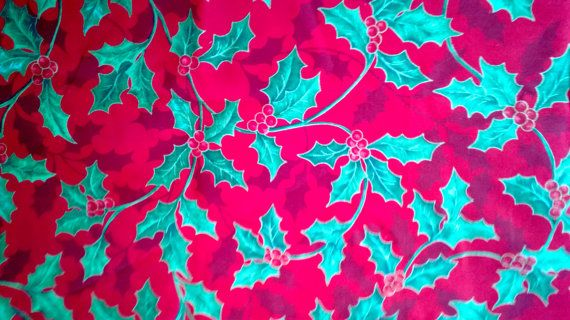 Christmas Holly and Berries Print Cotton Fabric 1 by debscrafts55, $6.00