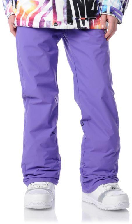 #Volcom Girls Dame purple #snowboard pants #zumiez