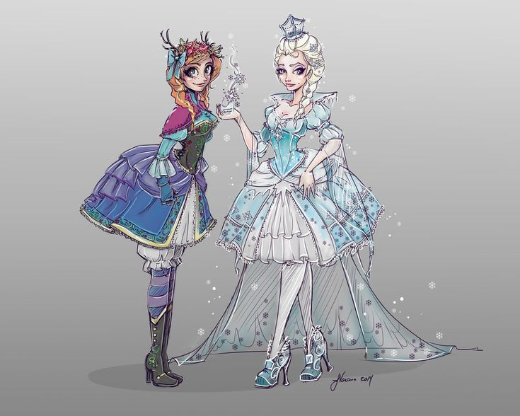 Frozen Characters Lolita Style By On Deviantart My Artwork