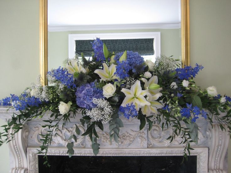 blue flower arrangements - Google Search