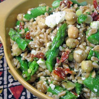 Burp! Recipes: Farro Salad with Asparagus & Feta -minus the butter ...