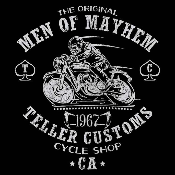 TELLER CUSTOMS T-Shirt | $10 Sons of Anarchy tee from ShirtPunch today only!