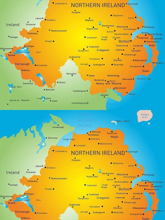 Country Of Ireland Map.Map Of Northern Ireland Country Europe European Europe Europe