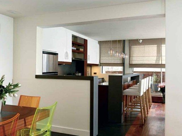 Les 25 meilleures id es de la cat gorie cuisine semi - Cacher cuisine ouverte ...