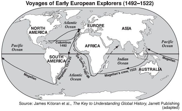 Voyages of early European explorers Also look at http://www.phschool.com/atschool/ahon/history_interactive/mvl-1021/common_player.html