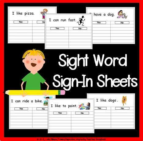 http://primaryinspiration.blogspot.com/2012/08/sight-word-sign-ins-free-tempates.html -Freebies page - lots of ideas