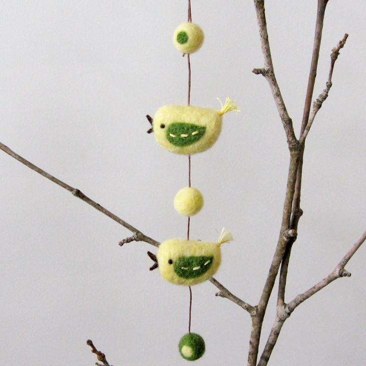 Easter felt bird garland