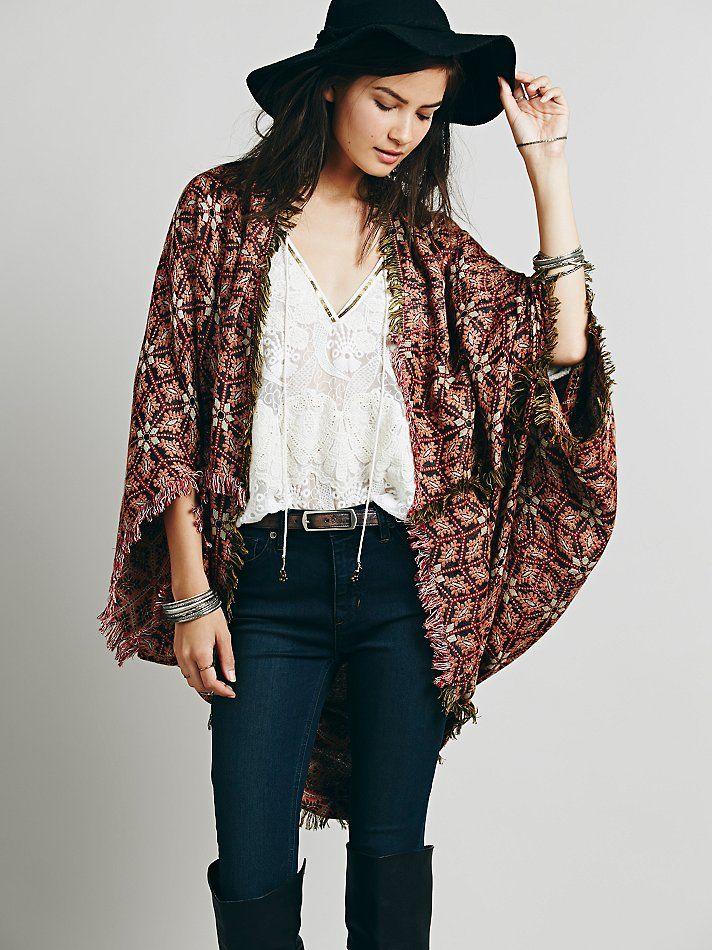 Free People Ikat Kimono, $68.00