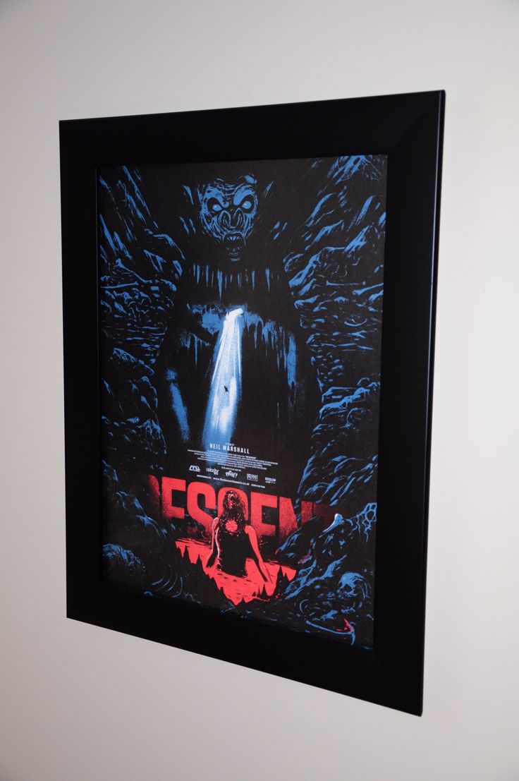 The Descent from the Great @GhoulishGary purchased from the Awesome people at @Frightfestorigi in one of our Wide Border Frames.