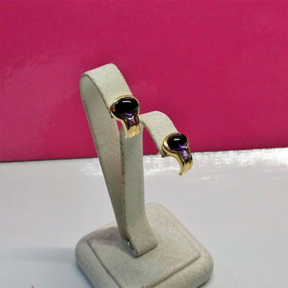 Ohrstecker Ohrringe Gold 333 Amethyst und fliederfarbener