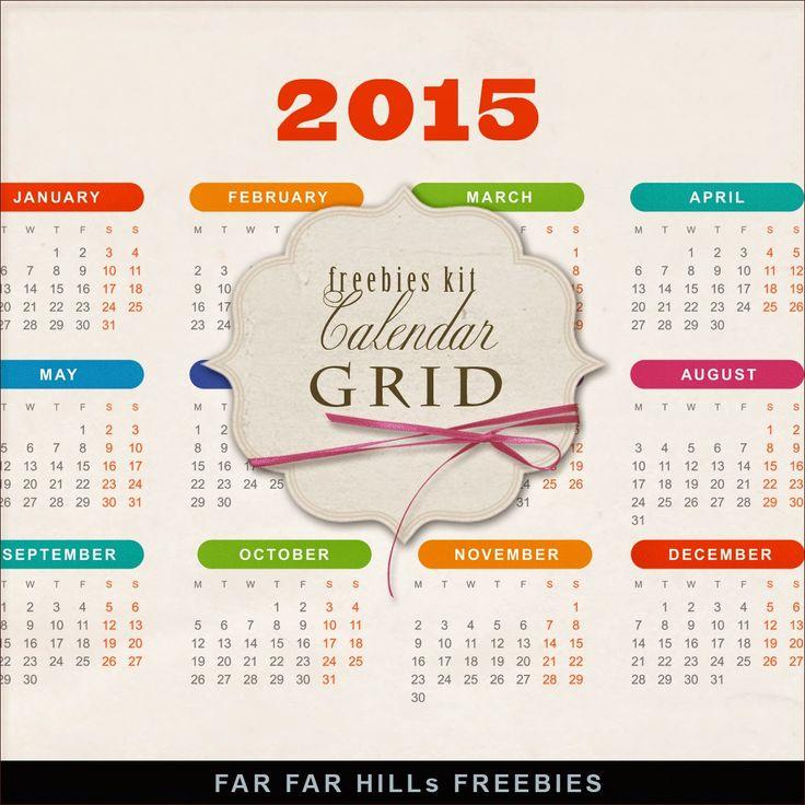 Calendario 2015 stampabile gratis. Da tenere d'occhi il sito con bellissimi freebie