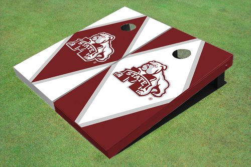 Mississippi State University Bulldog Alternating Diamond Cornhole Boards