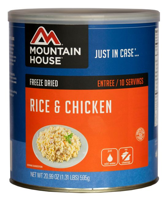 Freeze-Dried Rice & Chicken Can